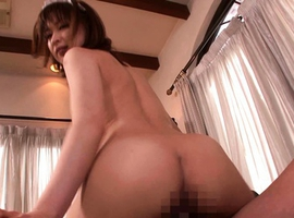 Yukiko Suoh Asian in long socks is pumped and gets cum on tongue