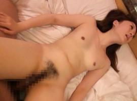 Japanese AV Model is glad to get cum on tits after deep frigging