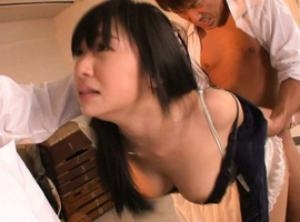 Nana Ogura Asian with big tits is fucked from behind and in mouth
