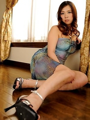 Asuka gets out of her cute dress