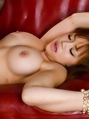Nene Azami Asian with big round cans has nooky licked and fucked