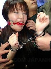Teen Yayoi Yoshino gets gagged