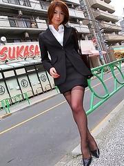 Japanese brunette Tsubaki posing