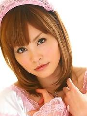 Hitomi Yoshino in her maid costume