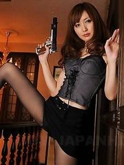 Slutty police darling Yui Igawa