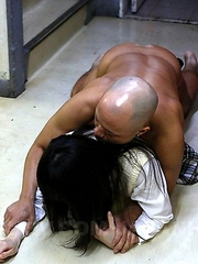 Hot schoolgirl sucking a big dong