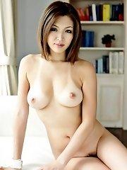 Mai Kuroki Asian strokes phallus while is screwed from behind