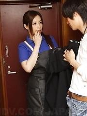 Yuko Iijima sees a hard cock when she comes